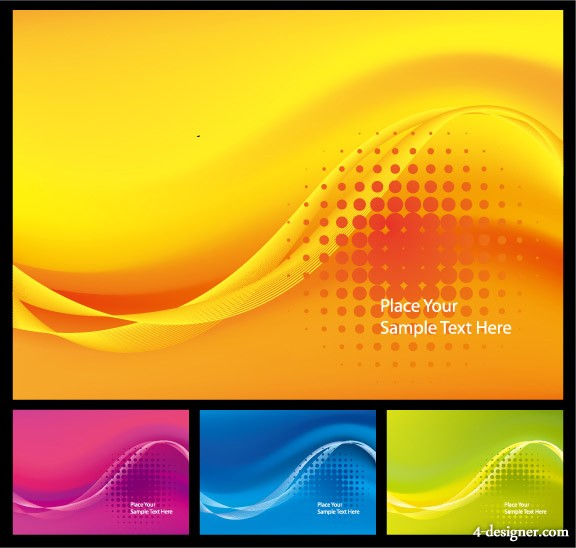 Symphony dynamic lines background vector material
