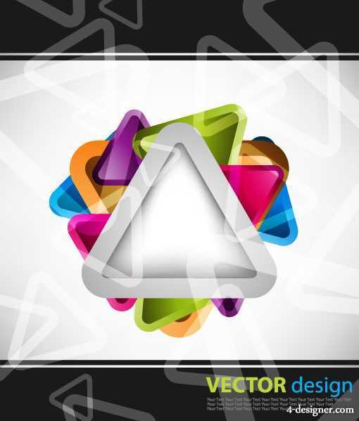 Symphony triangular background vector material 2