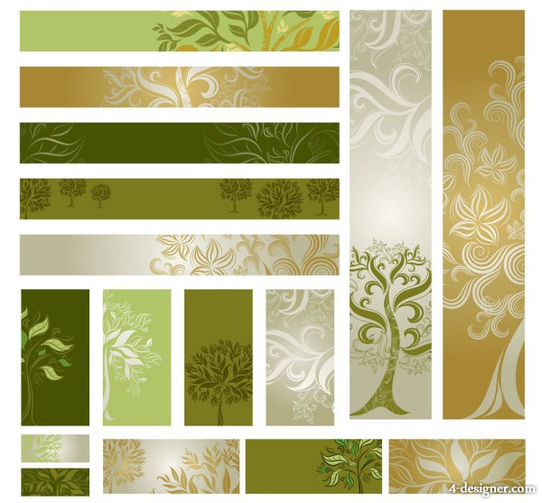 Template tree vector material of 02 Vector