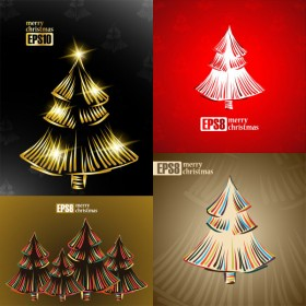 The Exquisite Christmas tree 2 vector material