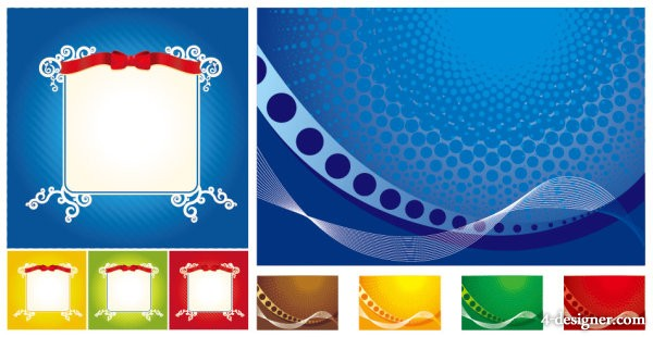 The Lace Ribbon dynamic lines background vector material