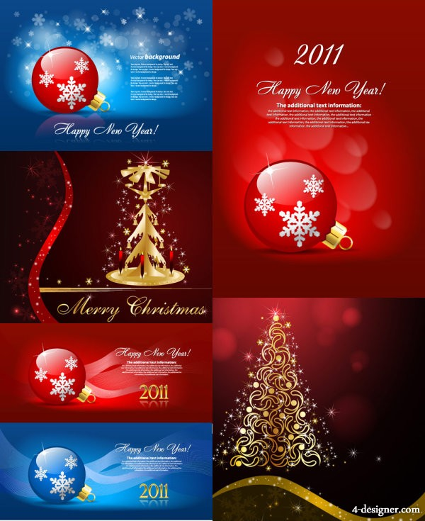 The beautifully Christmas ornaments background vector material