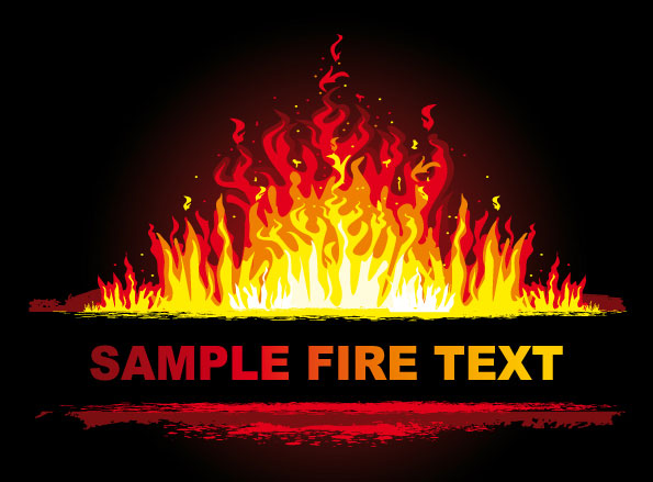 The beautifully Fire 3 vector material
