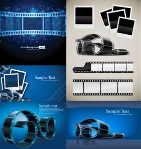 The blue film Diban of vector material