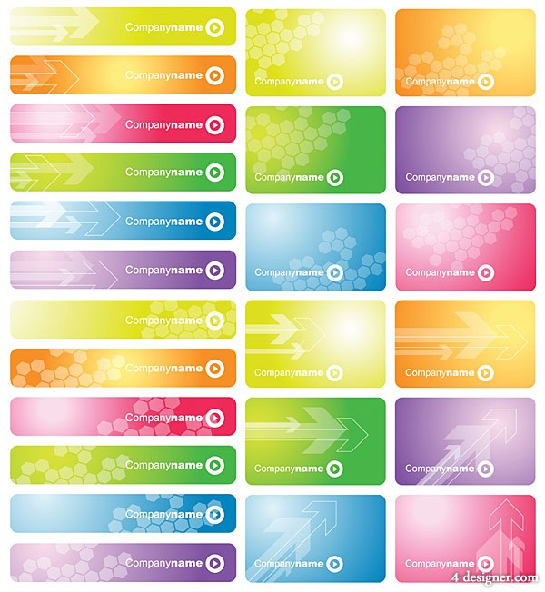 The card banner dream background vector material