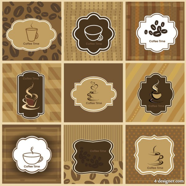 The classic coffee Card 01 vector material