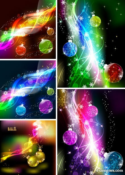 The cool Christmas Symphony light background Vector