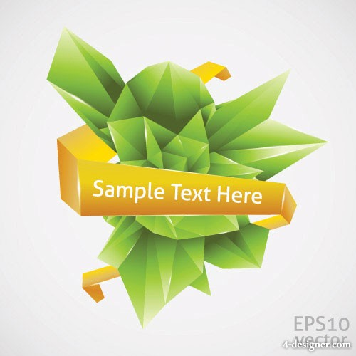 The cool D graphics vector material 2
