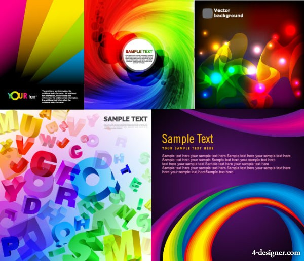 The cool glare background vector material