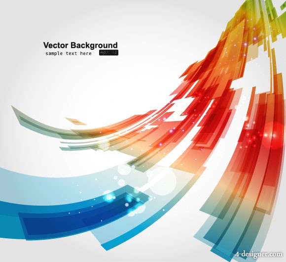 The dazzling dynamic background 03 Vector