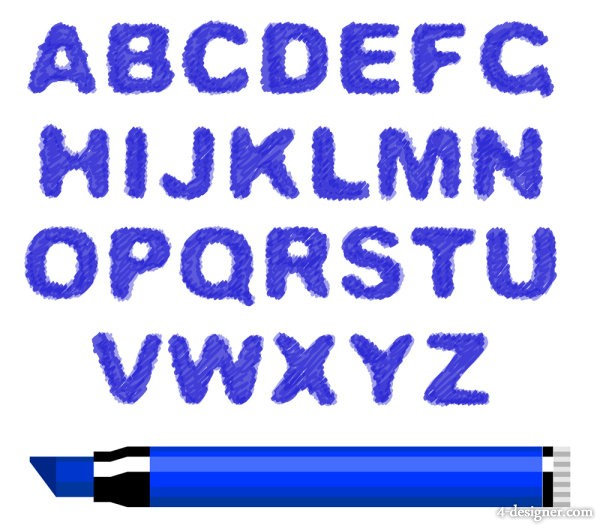 The different letters of the alphabet 05 vector material