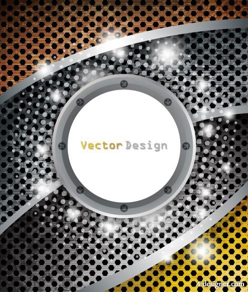 The dynamic cool background design vector material 5