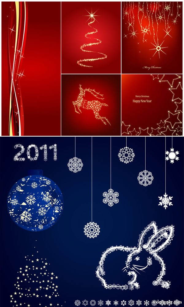 The exquisite Christmas snowflake background Vector