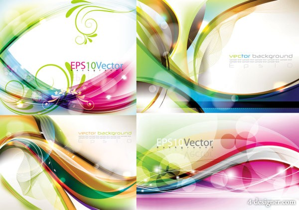 The exquisite Symphony dynamic background vector material 1