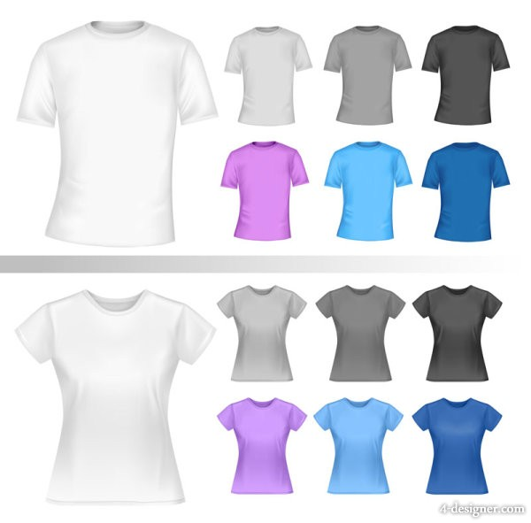 The exquisite T shirt template 03 vector material