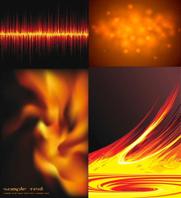 The exquisite flame vector material 2