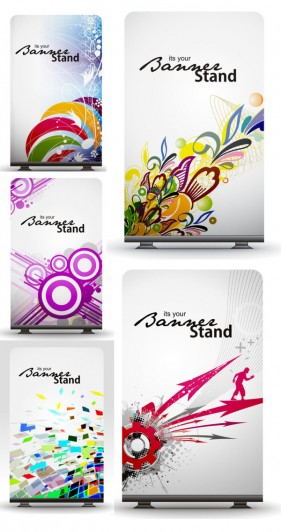 The exquisite pattern dynamic element panels Vector