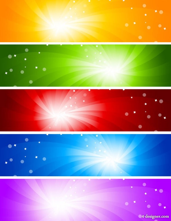 The glare banner background vector material