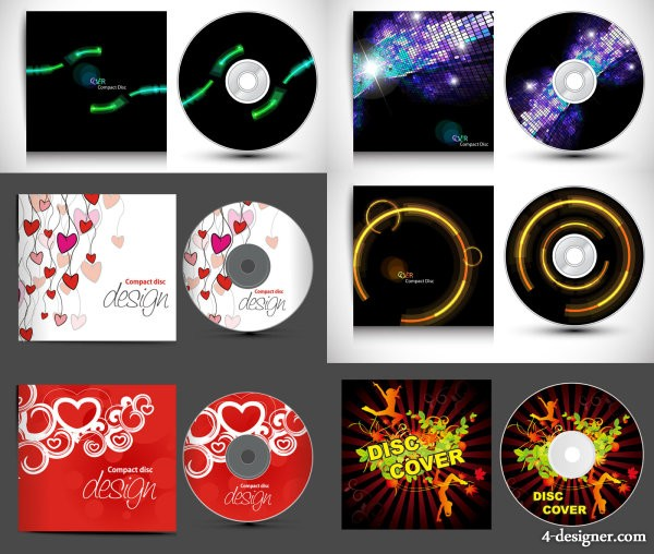 The gorgeous CD packaging vector material