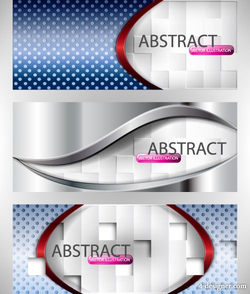 The gorgeous banner vector material