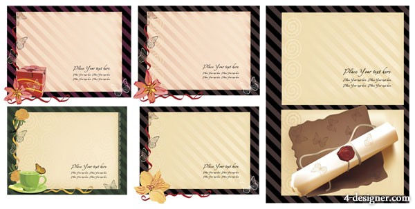 The old stationery templates series vector material 5