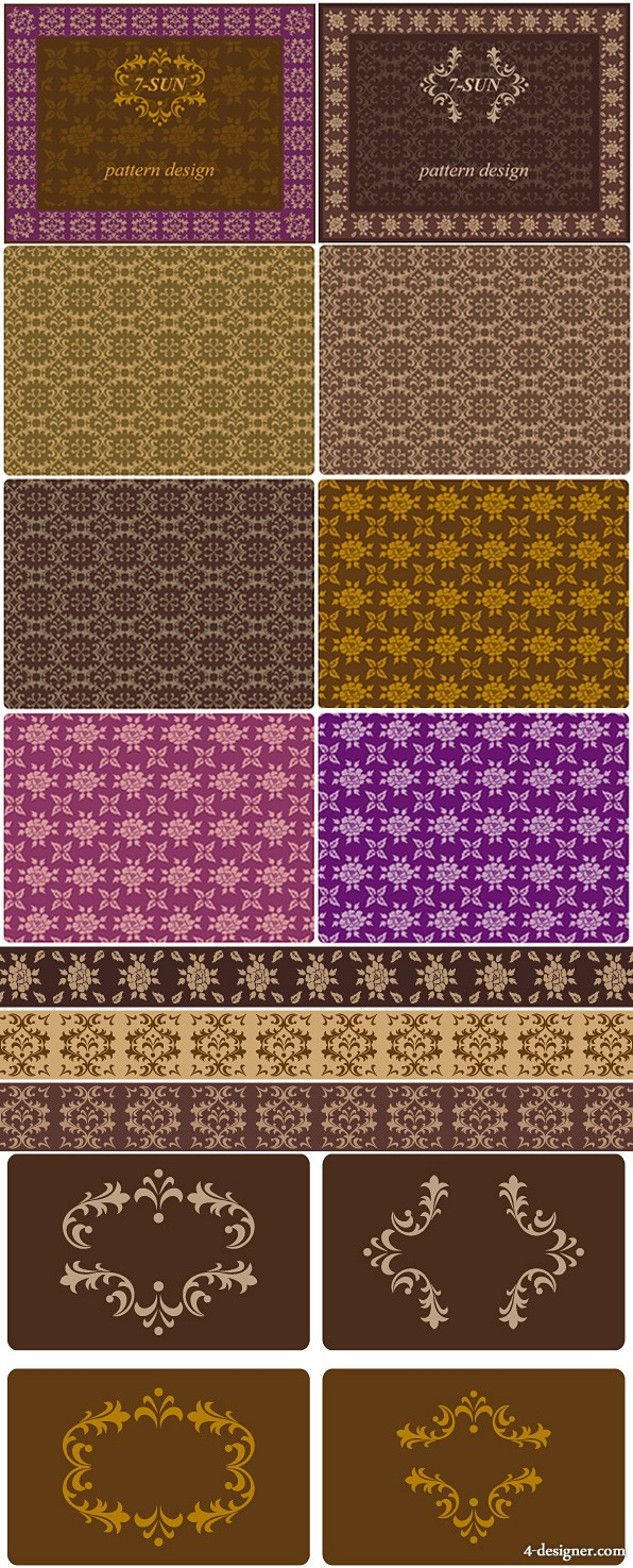 The pattern borders tiled background Vector case