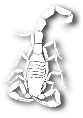 The scorpion paper cut silhouette vector material Vector