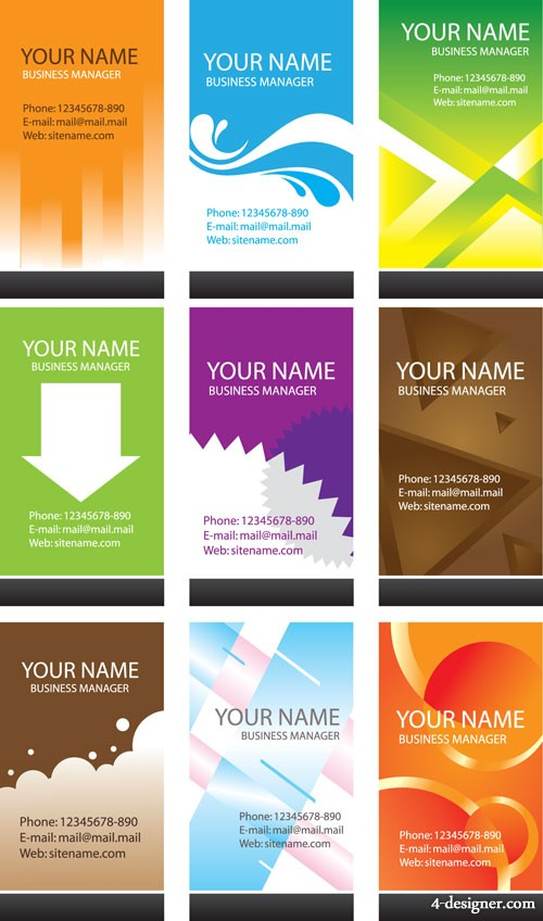 The simplicity business card template vector material