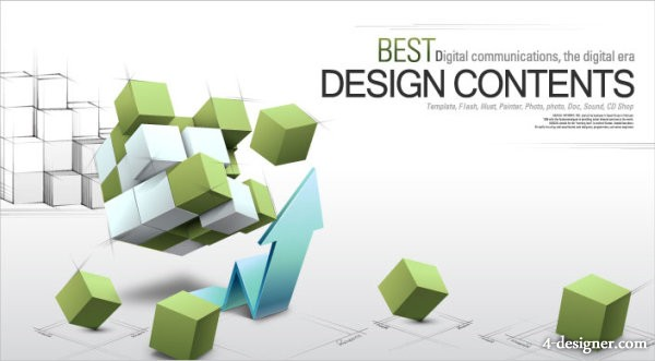 The stylish 3D business concept text background design vector material 3