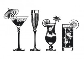 The super drinks monochrome vector