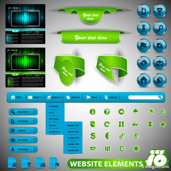 The utility web design elements 02 vector material