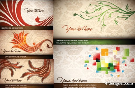 Touch of elegant banner background vector material