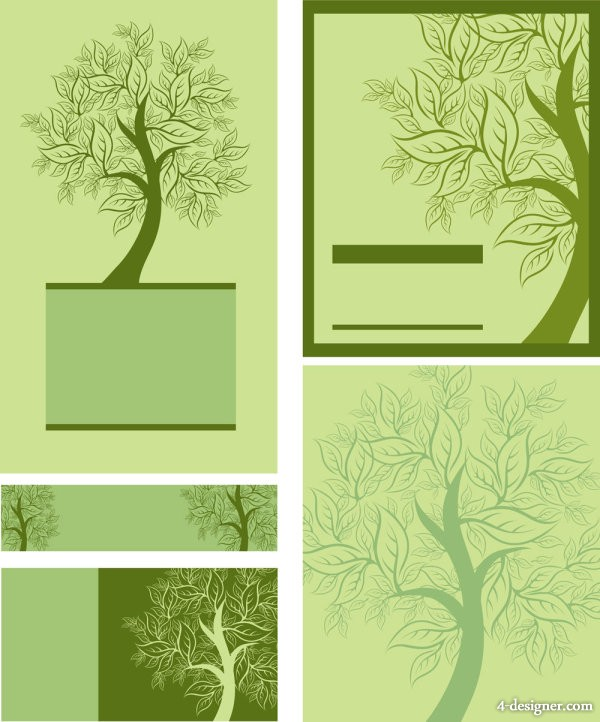 Tree template 01 vector material