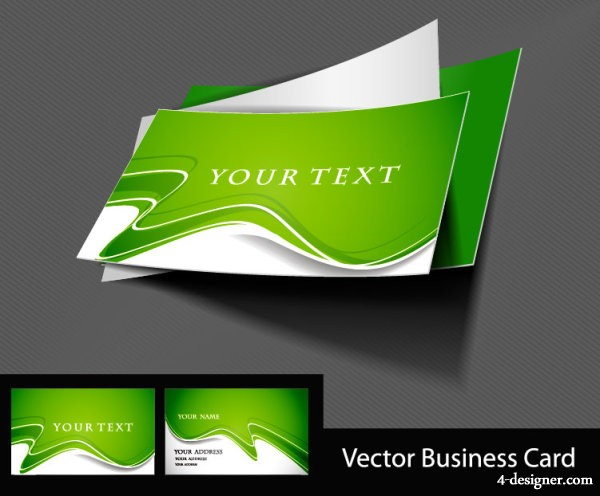 4 Designer Trend Business Card Template 03 Vector Material
