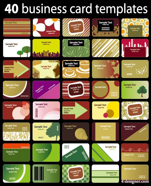 Variety of card background vector material