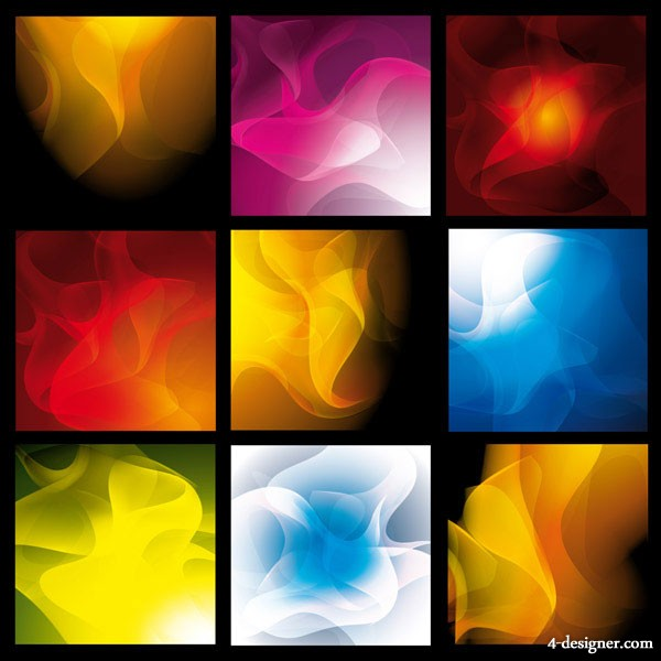 Variety of smoke background vector material