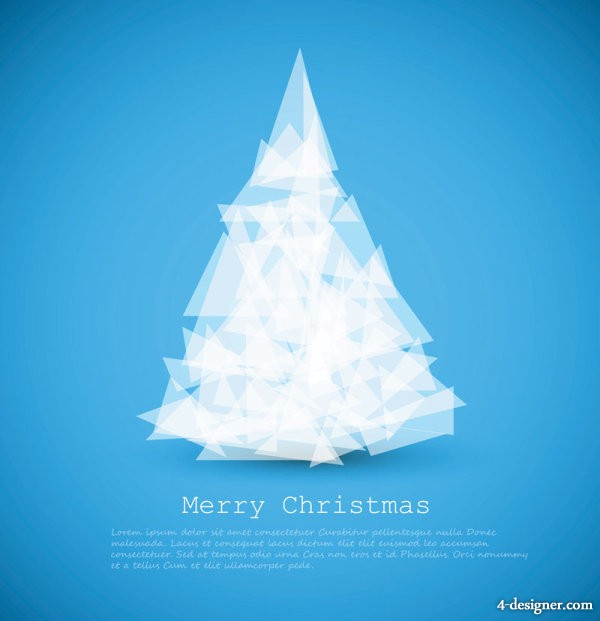 Vector creative Christmas tree 04 vector material