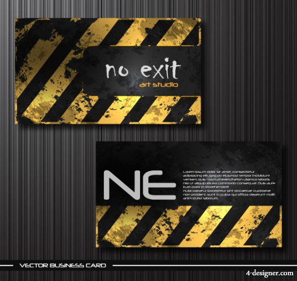 Vector metal the dilapidated business card templates vector material