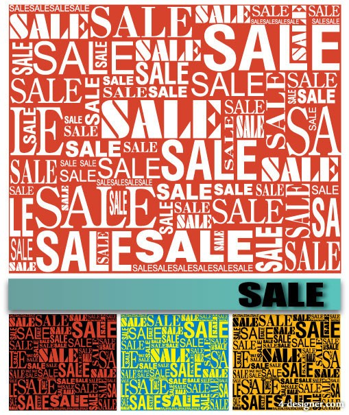 Vector various sale font background vector material