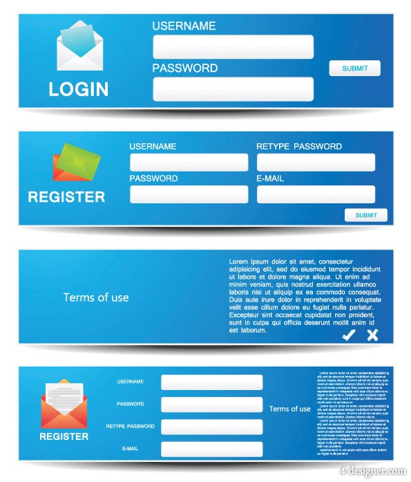 Web form vector material