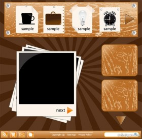 Web style vector material