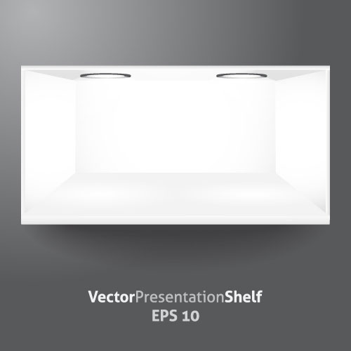 White Showcase vector material