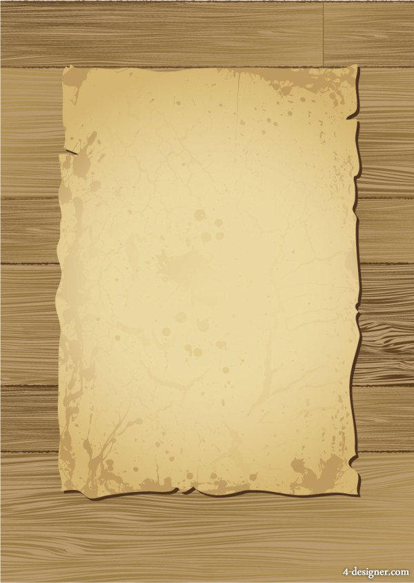 Wood and old paper vector material