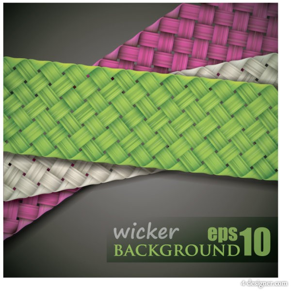 Woven background 04 vector material