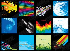 12 beautifully designed background vector material 2
