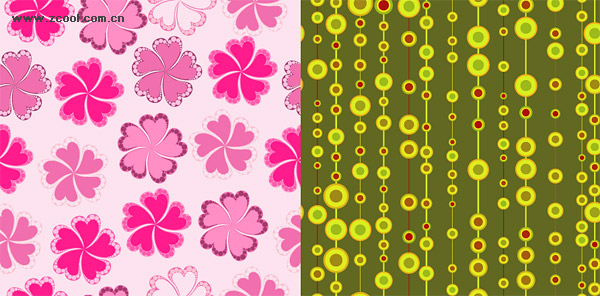 2 models cute fashion background vector material