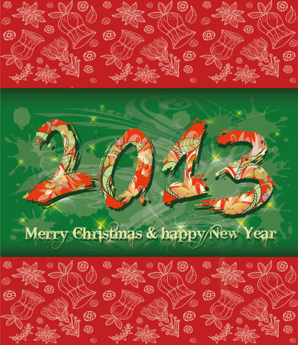 2013 New Year theme 02 vector material