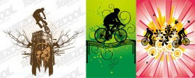 3 models bike vector material