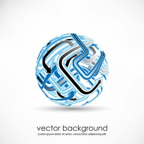 3D dynamic logo03 Vector