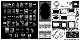 4 practical lace vector material